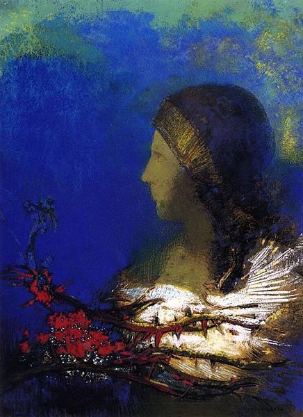 Odilon Redon (1840-1916) Red Thorns