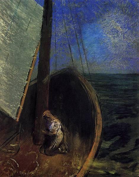 Odilon Redon (1840-1916) The Boat - (Odilon Redon - 1902)