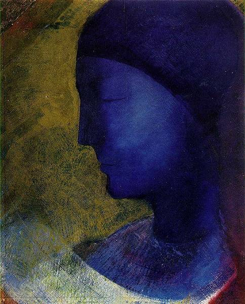 Odilon Redon (1840-1916) The Golden Cell-1892