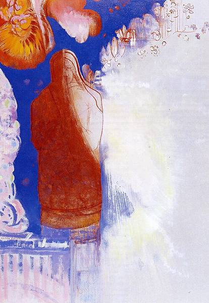 Odilon Redon (1840-1916) The Saint - (Odilon Redon - circa 1900-1905)