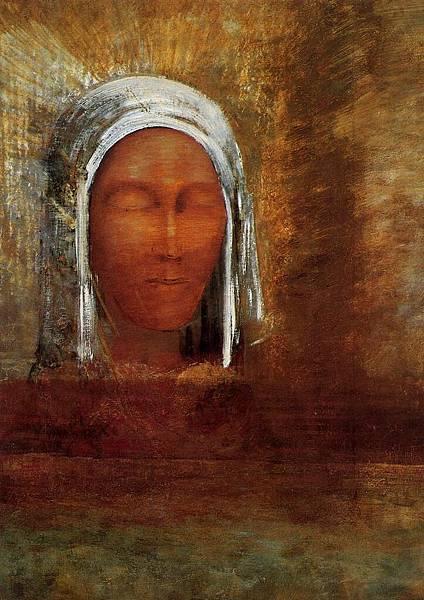 Odilon Redon (1840-1916) Virgin of the Dawn - (Odilon Redon - 1890)