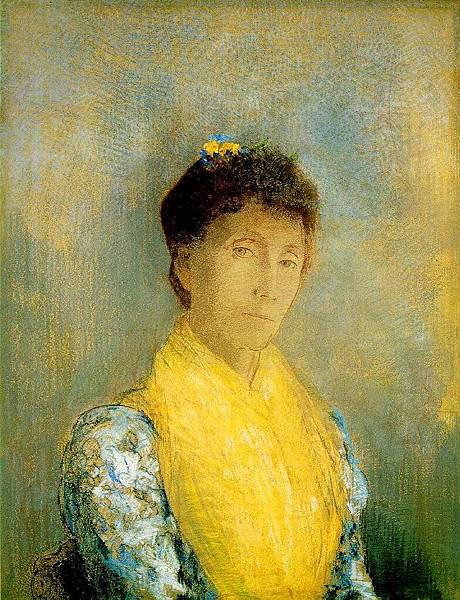 Odilon Redon (1840-1916) Woman with a Yellow Bodice, 1899,