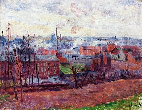 Landscape at Marchiennes - (Maximilien Luce - 1896)