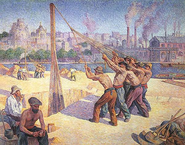 Maximilien Luce (1858-1941) The Pile Drivers, Quai de la Seine at Billancourt, 1902-03