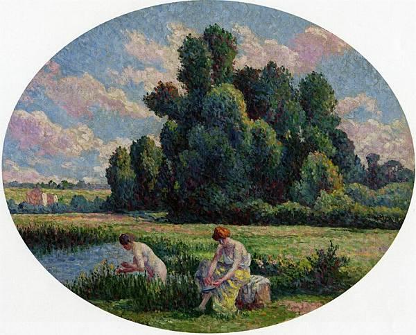 Moulineux, Bathers - (Maximilien Luce - 1903)