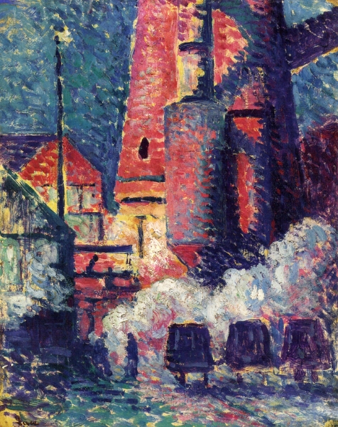 Tall Furnaces - (Maximilien Luce - 1896)