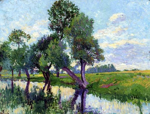 The Banks of the Cure - (Maximilien Luce - circa 1906-1908)