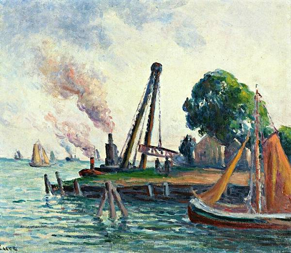 The Port of Amsterdam - (Maximilien Luce - 1908)