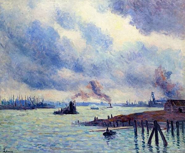 The Port of Rotterdam - (Maximilien Luce - 1908)