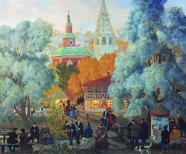 Boris Kustodiev (1878-1927)-KustodievB_Provinc