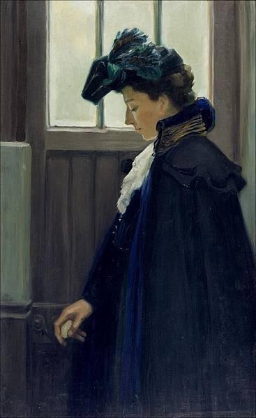 Edelfelt_At_the_door_1901