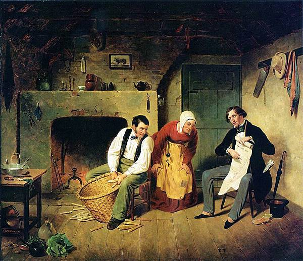 The Speculator - (Francis William Edmonds - 1852