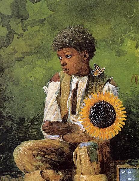 Winslow Homer (1836-1910)-A Flower for the Teacher