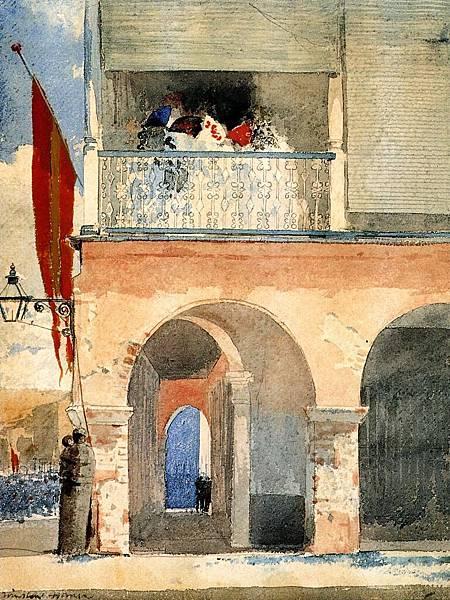 Winslow Homer (1836-1910)-Customs House, Santiago de Cuba