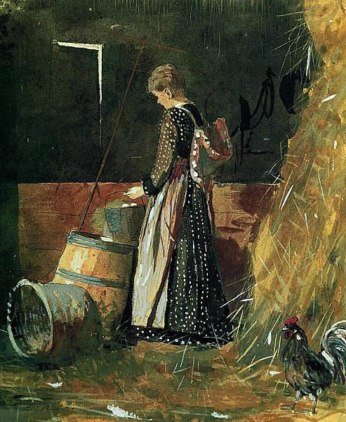 Winslow Homer (1836-1910)-Fresh Eggs - (Winslow Homer - 1874)