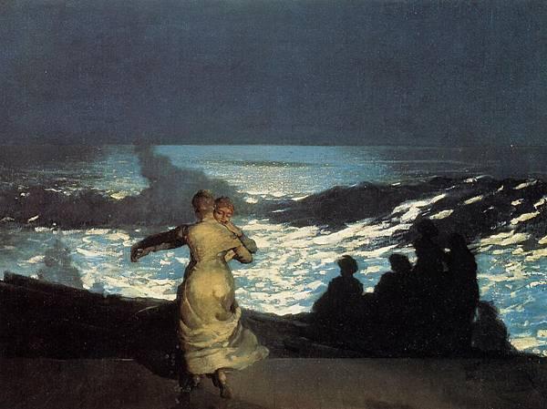 Winslow Homer (1836-1910)-Homer_Winslow_A_Summer_Night