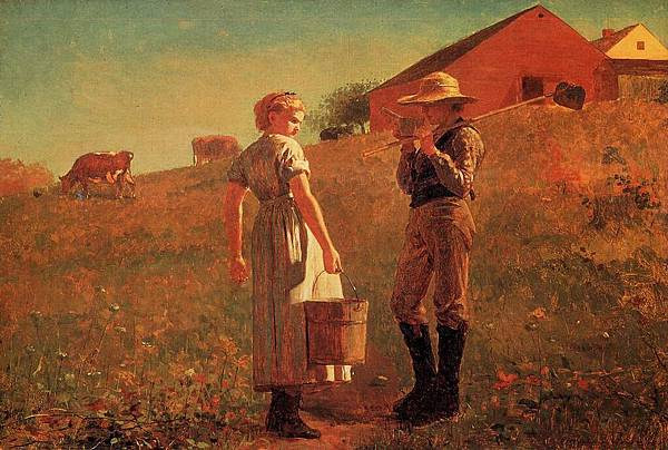 Winslow Homer (1836-1910)-Homer_Winslow_A_Temperance_Meeting_aka_Noon_Time