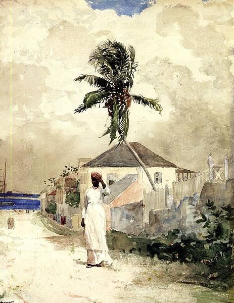 Winslow Homer (1836-1910)-Homer_Winslow_Along_the_Road_Bahamas