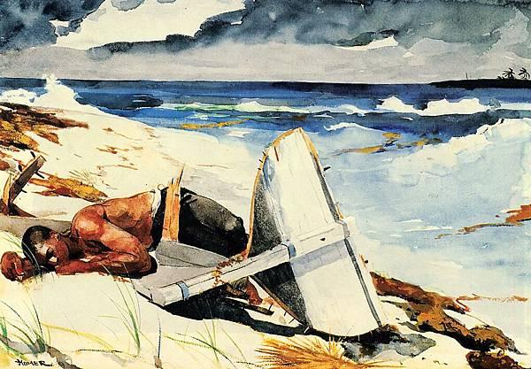 Winslow Homer (1836-1910)-Homer_Winslow_After_the_Hurricane