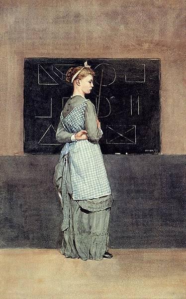 Winslow Homer (1836-1910)-Homer_Winslow_Blackboard