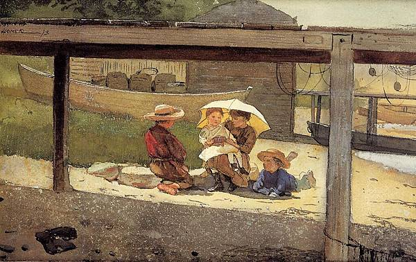 Winslow Homer (1836-1910)-Homer_Winslow_In_Charge_of_Baby