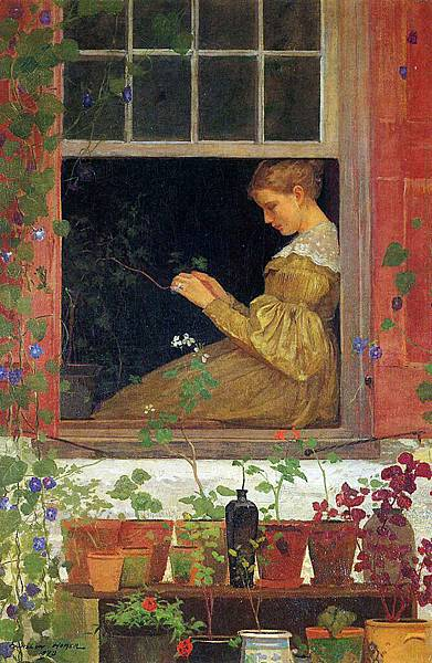 Winslow Homer (1836-1910)-Homer_Winslow_Morning_Glories