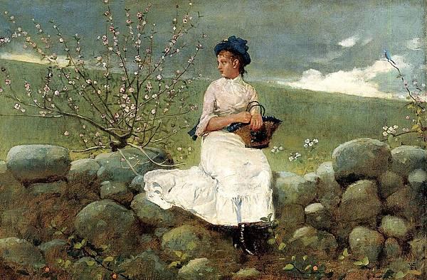Winslow Homer (1836-1910)-Homer_Winslow_Peach_Blossoms