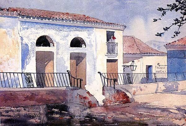 Winslow Homer (1836-1910)-House, Santiago, Cuba