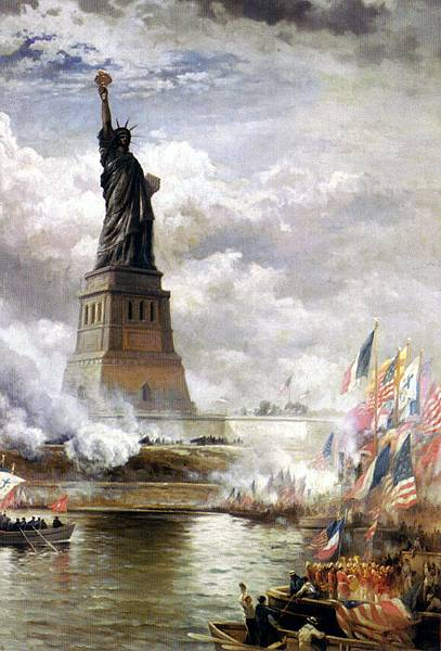 Edward Moran (1829-1901)_Unveiling_The_Statue_of_Liberty_1886