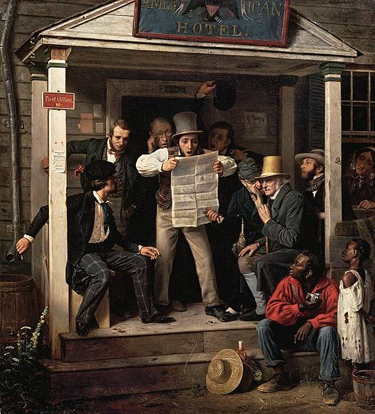 Richard Caton Woodville (1825–1855) War News from Mexico