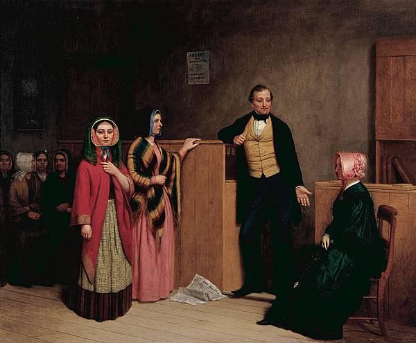 William Henry Burr (1819–1908) The Intelligence Office , 1849