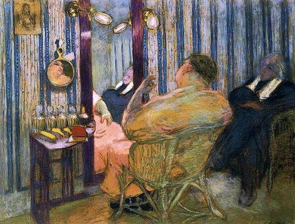 Edouard Vuillard (1868-1940)-Sacha Guitry in His Dressing Room