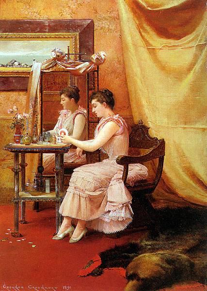 Georges Croegaert (1848-1923) Croegaert_Georges_La_toilette_1891_Oil_On_Panel
