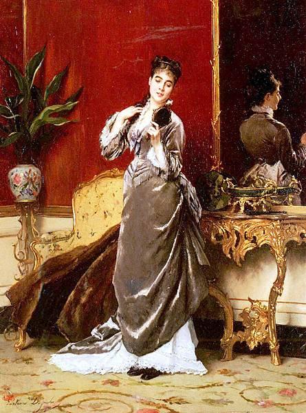 Gustave Leonhard de Jonghe (1829-1893) dressing for the ball