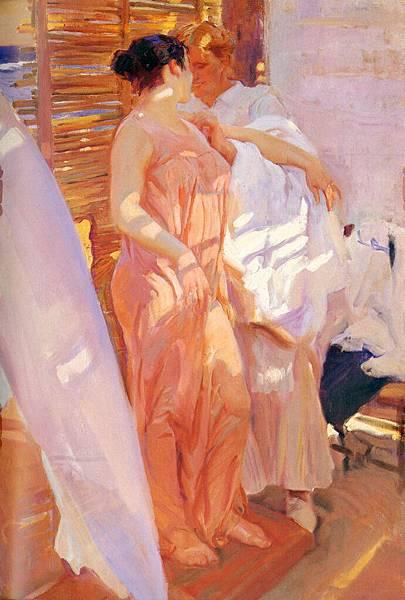 Joaquin Sorolla y Bastida (1863-1923)-Sorolla_Joaquin_La_Bata_Rosa