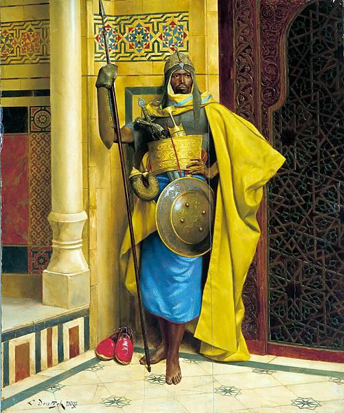 Ludwig Deutsch, The Nubian Palace Guard