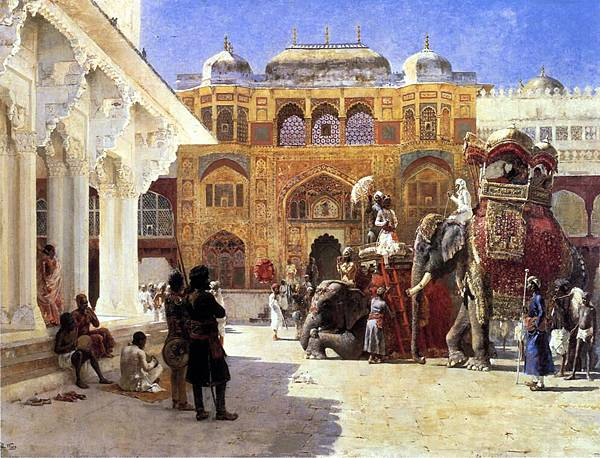 Edwin Lord Weeks (1849-1903) Arrival of Prince Humbert, the Rahaj, at the Palace of Amber