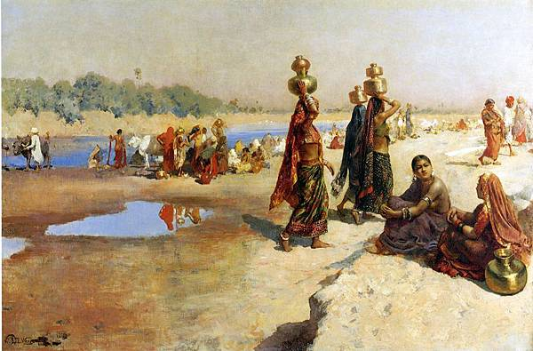 Edwin Lord Weeks (1849-1903) Water Carries of the Ganges