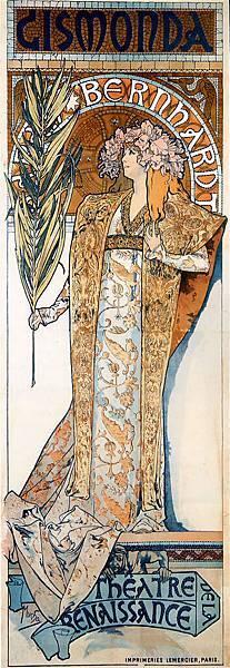 Alphonse Maria Mucha (1860-1939)-bernhardt - (Alphons Maria Mucha