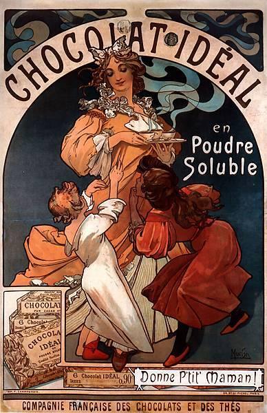 Alphonse Maria Mucha (1860-1939)-Chocolat_Ideal_1897