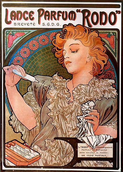 Alphonse Maria Mucha (1860-1939)-Lance-Parfum_Rodo_1896