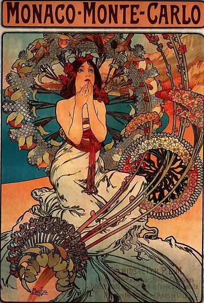 Alphonse Maria Mucha (1860-1939)-Monaco_Monte_Carlo_1897