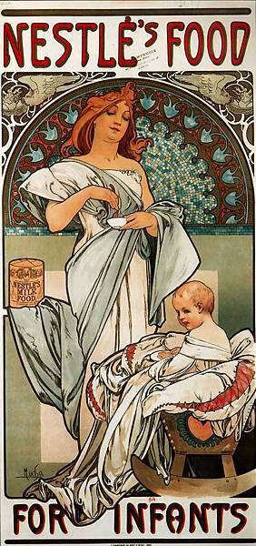 Alphonse Maria Mucha (1860-1939)-Nestles_Food_for_Infants_1897_34_5x72cm