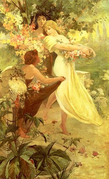 Alphonse Maria Mucha (1860-1939)-Mucha_Alphonse_Spirit_Of_Spring