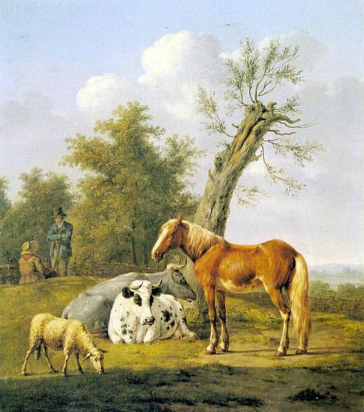 Anthony Oberman (1781-1845)_Cows_A_Horse_And_A_Sheep_Resting_By_A_Blasted_Oak