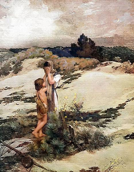 Hagar_and_Ishmael_Jean_Charles_Cazin1880