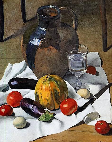 Felix Vallotton (1865-1925) Still Life with Large Earthenware Jug -1923