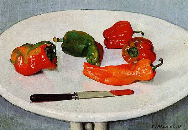 Felix Vallotton (1865-1925) Still Life with Red Peppers on a White Lacquered Table -1915