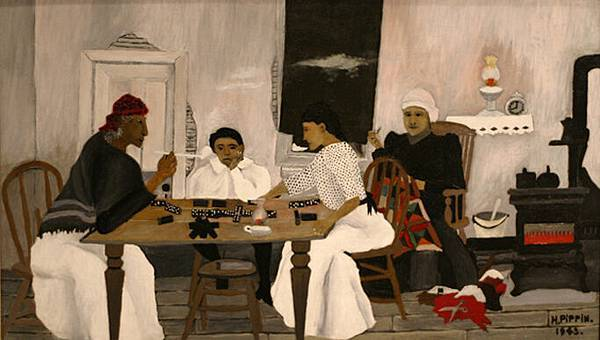 Horace Pippin (1888-1946)-34817661_HoracePippinDominoPlayers1943