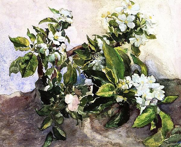 John La Farge (1835-1910) Apple Blossoms
